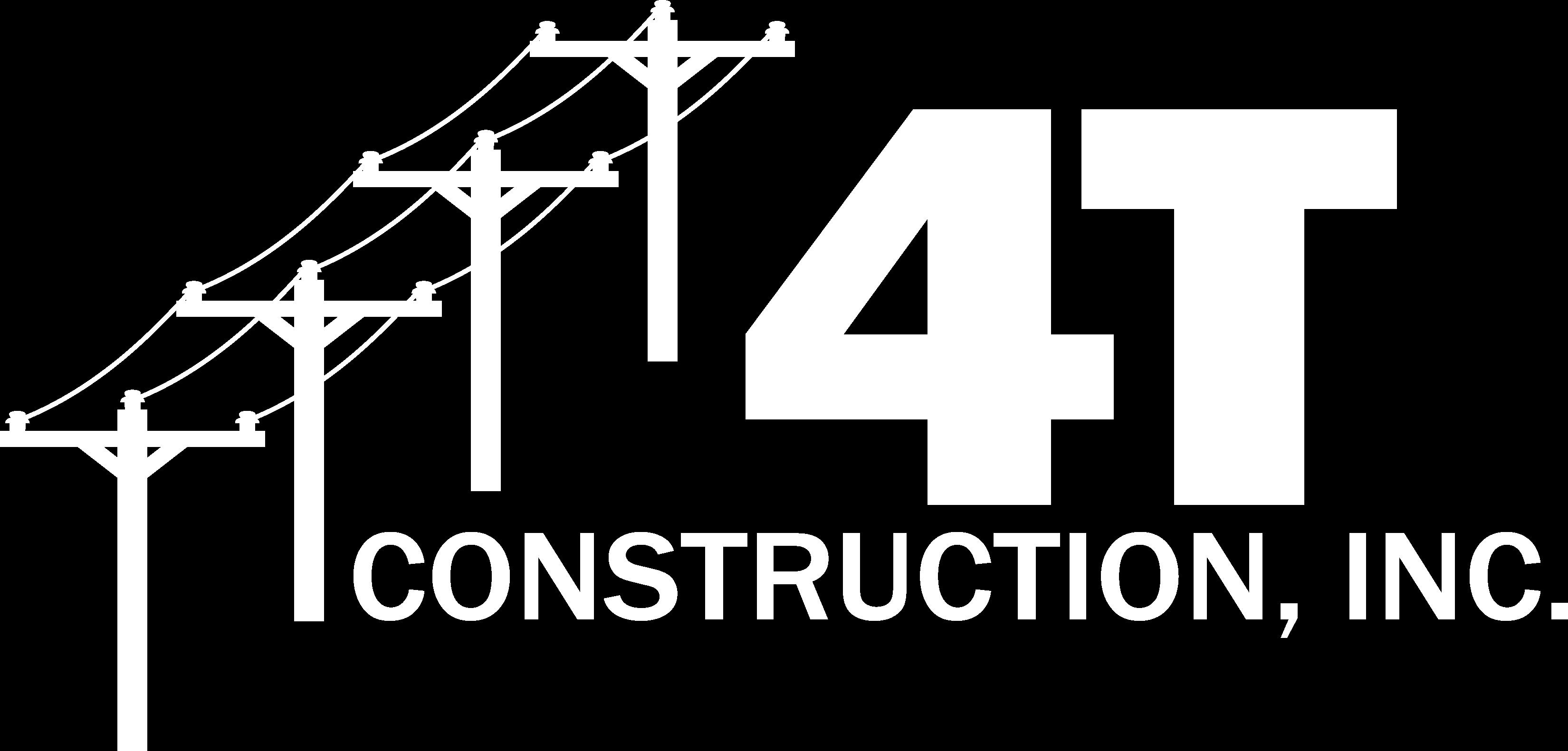 Logo White - 4T Construction, Inc